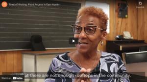 Video Screenshot of Barbara Scott on food access