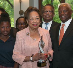 Drucie Chase with family at the DDCE 2018 Evening of Honors