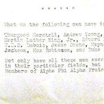 Alpha Phi Alpha event brochure form 1981.