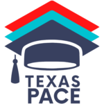 Texas PACE logo graduation cap
