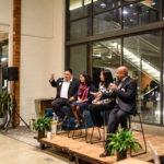 Photo of panel at Impact Hub