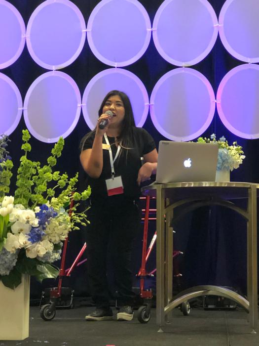 Shalom Hernandez describing her college journey