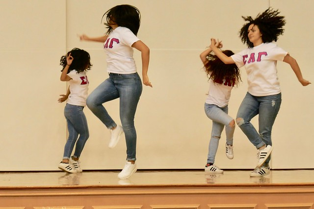 image of dancing students