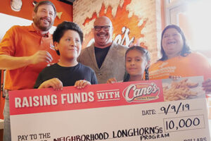 NLP recieves 10K check from Cane's