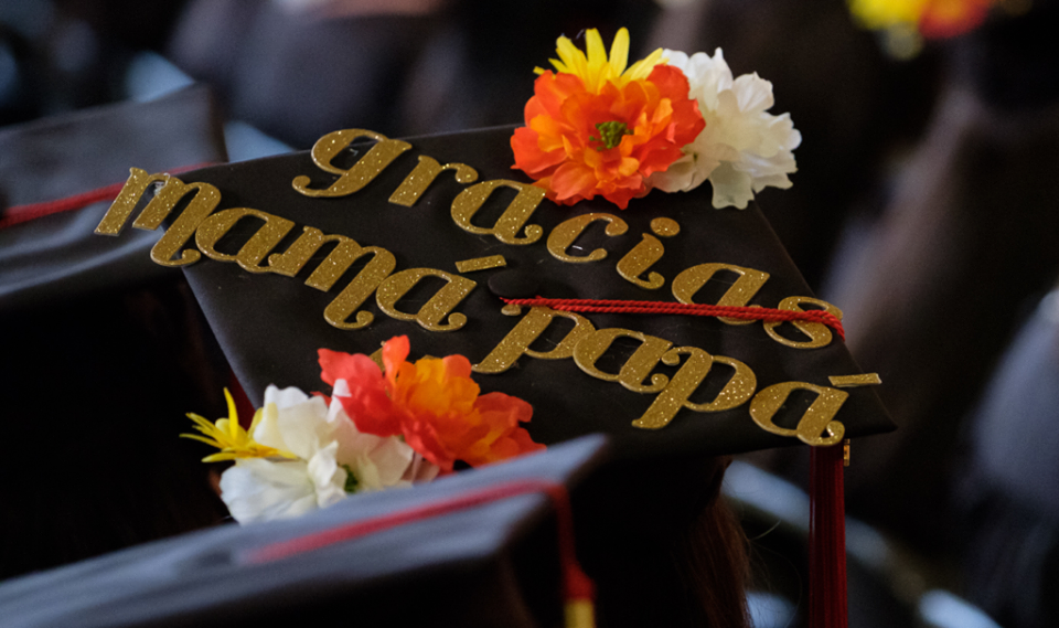 image of graduation caps