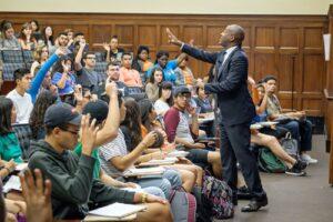 Leonard Moore teaching his signature class at UT Austin