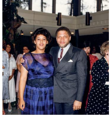 Sandria Chase with Mickey Leland