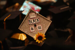 black graduation 21 UT Austin