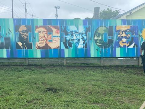 Freddie Dixon mural in East Austin
