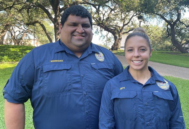 UCIT Jett and Rodriguez in uniform