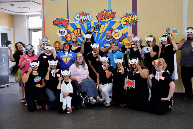 image of teachers in costumes