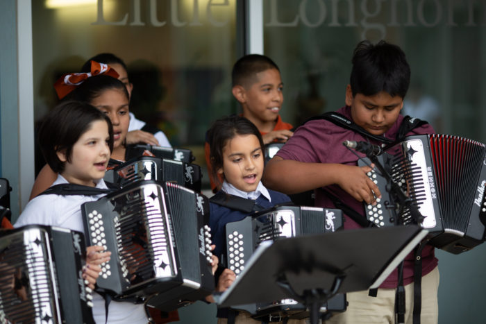 image of students with accordians