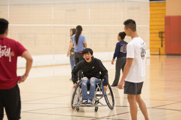image of student in wheelchair