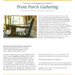 "Community Engagement Center's Front Porch Gatherings Begin Sept. 20 with ""The Role of the Black Church in East Austin"""