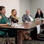 image of panel at networking event