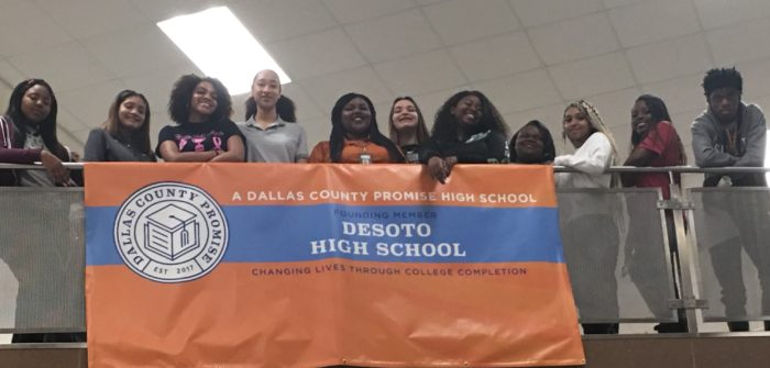 Image of students at Dallas high school