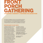 Front Porch Gathering to Discuss Education Equity in East Austin, Sept. 19