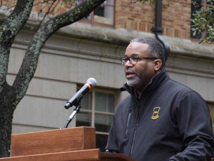 Dr. Vincent at MLK Day celebration