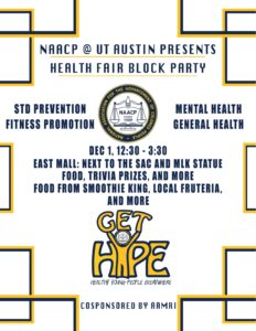 flyer UT chapter NAACP
