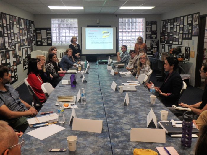Participants at a grant-writing workshop held at the Texas Grants Research Center (formerly Regional Foundation Library)