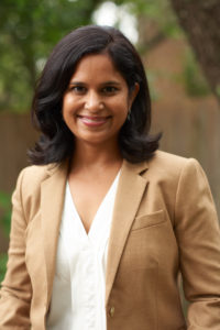 Image of Suchitra in a tan blazer