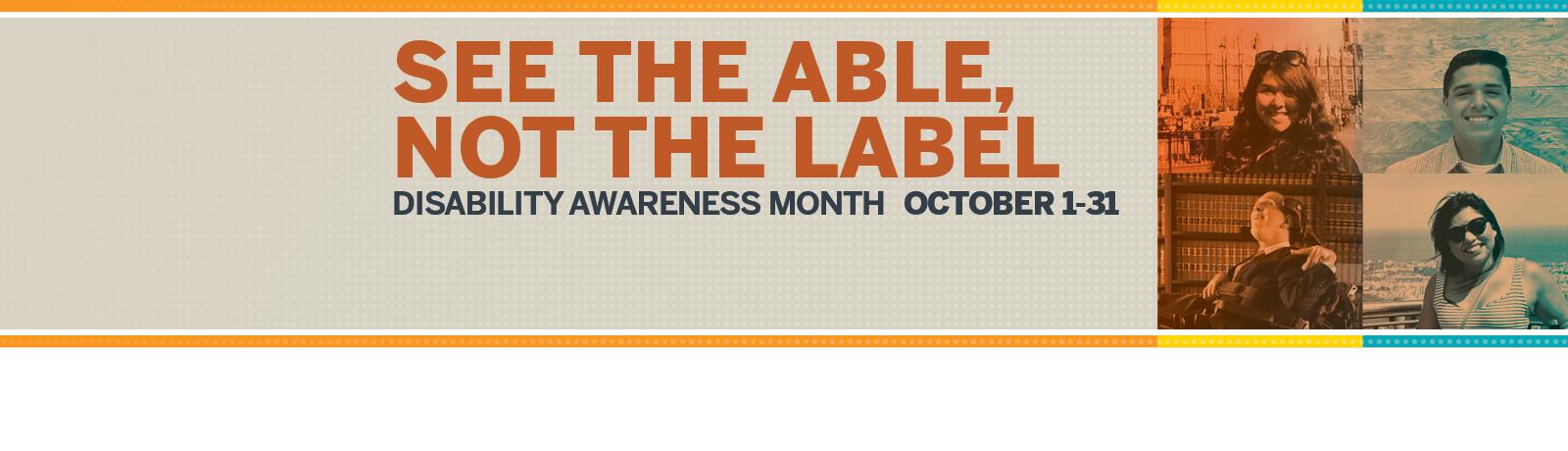 Celebrating Disability Awareness Month