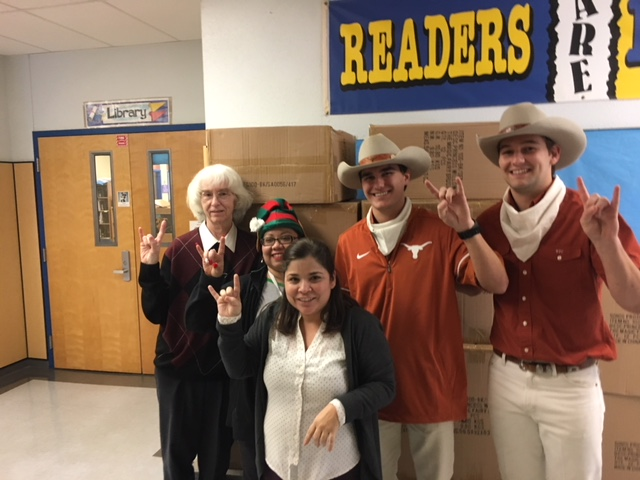 teachers and Silver Spurs students
