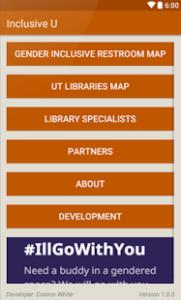 Inclusive U menu screenshot