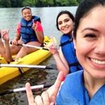 Summer Bridge students kayaking