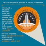 Call for Nominations: 2017 Tower Awards Recognize Longhorns Giving Back to the Community